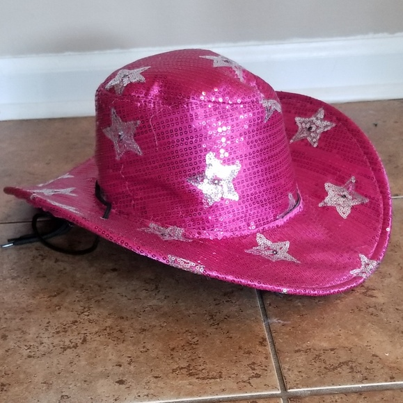 2ef33b8e8742b Accessories - NWOT Light Up Pink Sequin Cowgirl Hat 💖